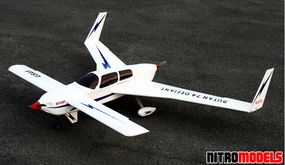 Rutan Defiant 74 ARF Twin-Engine  led Push-Pull RC Aircraft RC Remote Control Radio