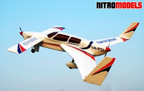 "Rutan Defiant 74 Twin Engine 40 - 65"" Radio Remote Controlled Pusher-Pull R/C Aircraft ARF"