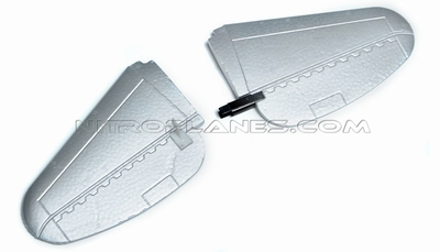 Silver Elevator for AirField RC P47 750mm 93A847-03-Silver-Elevator