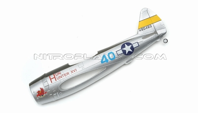 Silver Fuselage for AirField RC P47 750mm 93A847-01-Silver-Fuselage