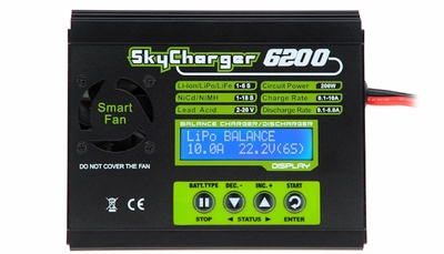 SkyCharger 6200 Multifuction DC 1-6 Cell LiPo Charger