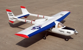 "Skymaster 337 46 - 81"" Twin-Engine Nitro Gas Radio Remote Controlled RC Airplane ARF"