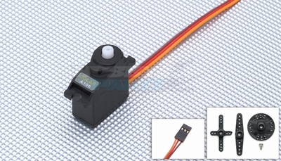 Solar Servo A106 Analog 9g 0.12@4.8v Micro Servo w/ Bonus Servo Case & Gear while supplies last