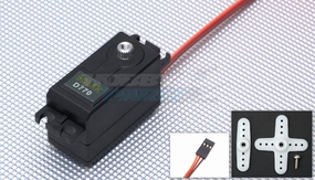 Solar Servo D770 High Voltage Low Profile .06sec@7.4v Digital Metal Gear 47g 33P-SolarServo-D770
