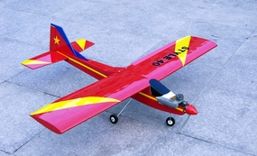 "STYLE 40 - 56"" Nitro Gas RC Airplane Trainer ARF (Red) RC Remote Control Radio"