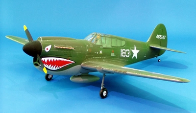 "Super Sale! CMP Model P40 Warhawk 140 - 73 "" ARF Nitro Gas Radio Remote Controlled ""Tiger Shark"" Airplane RC Plane CMP-049-Gas-P40-140"