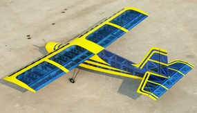 "Super Senior 60 - 80"" Nitro RC Plane Kit (Transparent Blue Aircraft) RC Remote Control Radio"