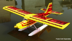 "Super Senior 60 - 80"" Nitro RC Plane Kit (Transparent Red Aircraft) RC Remote Control Radio"