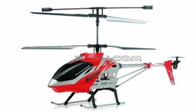 SUPER SIZED Syma S033G 3 Channel Co-axial RC Electric Helicopter w/ LED Lights & Gyroscope RTF (Red) RC Remote Control Radio