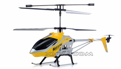 SUPER SIZED Syma S033G 3 Channel Co-axial RC Electric Helicopter w/ LED Lights & Gyroscope RTF (Yellow) RC Remote Control Radio