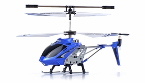 Syma 3 Channel S107 Mini Indoor Co-Axial Metal Body RC Helicopter w/ Gyro (Blue) RC Remote Control Radio