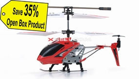 Syma 3 Channel S107 Mini Indoor Co-Axial Metal Body RC Helicopter w/ Gyro Red (Refurbished Open Box)