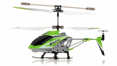 Syma 3 Channel S107G Mini Indoor Co-Axial  RC Helicopter w/ Gyro (Green) RC Remote Control Radio