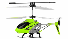 Syma 3 Channel S107G Mini Metal Indoor Co-Axial RC Helicopter w/ Gyro (Green) RC Remote Control Radio