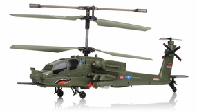 Syma S113G AH-64 Apache Gunship 3 Channel RC Helicopter RC Remote Control Radio