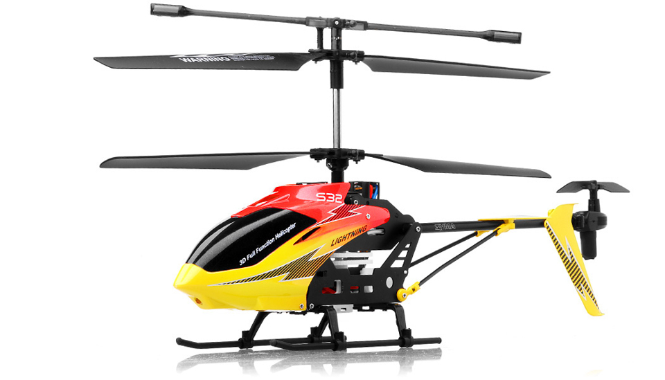 Syma S32 Lightning RC 3 Channel Helicopter 2 4Ghz (Red) RC