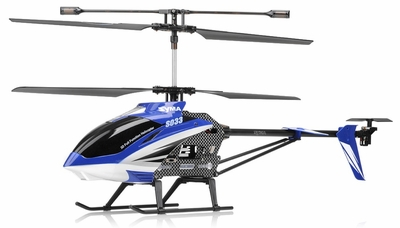 "Syma S33 3 Channel Metal RC Helicopter 2.4ghz 30"" Long (Blue) RC Remote Control Radio"