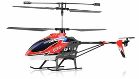Syma S33 3 Channel RC Helicopter 2.4ghz (Red) RC Remote Control Radio