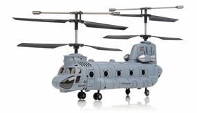 Syma S34 3 Channel Chinook RC Helicopter 2.4ghz (Blue) RC Remote Control Radio