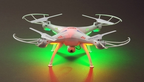 Syma X5SC Explorers 4 Channel 6-Axis RC Quadcopter Drone Ready to Fly 2.4Ghz w/ HD Camera (White) RC Remote Control Radio 4GB SD Included