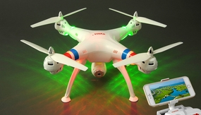 SYMA X8W WiFi FPV Headless Mode 2.4G 4CH Remote Control Quadcopter with HD 2MP Camera 6 Axis Gyro 3D Flip (White)