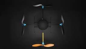 T580 Almost Ready To Fly QuadCopter AV/P Multi Rotor w/ Gyro RC Remote Control Radio