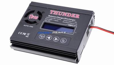 Thunder T610 NiCd/MH(1~18 cells) & LiIo/LiPo/LiFe: 1~6 series Balance Charger/Discharger w/ LCD Display+Auto-Fan