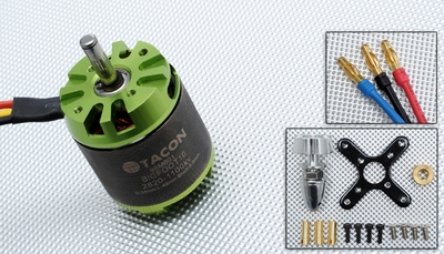 Tacon Big Foot 10 Brushless Out Runner Motor for Airplane (1100KV) 96M601-Bigfoot10-2820-1100Kv