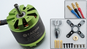 Tacon Big Foot 46 Brushless Out Runner Motor for Airplane (670KV) 96M605-Bigfoot46-4020-670Kv