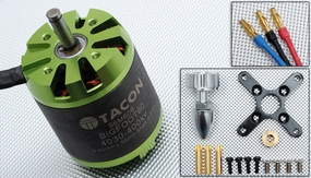 Tacon Big Foot 60 Brushless Out Runner Motor for Airplane (400KV) 96M606-Bigfoot60-4030-400Kv