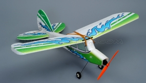 Tech One RC 4 Channel Fun fly EPP ARF Version (Green) Plane kit + T2208 Motor + 18A ESC + 8g Servo + GWS 8040 propeller RC Remote Control Radio