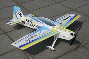 Tech One RC 4 Channel Katana EPO Aerobatic RC Plane Kit w/Motor (Blue) RC Remote Control Radio