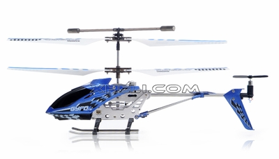 The Gyro Star S107 3 Channel Mini Indoor Co-Axial Metal RC Helicopter w/ Built in Gyroscope (Blue) RC Remote Control Radio