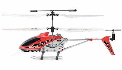 The Gyro Star S107 3 Channel Mini Indoor Co-Axial Metal RC Helicopter w/ Built in Gyroscope (Red) RC Remote Control Radio