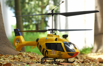 The New Style 2.4Ghz Art-Tech EC-135 4 Channel Eurocopter Helicopter Fully Loaded w/ LiPo Battery 100% RTF Yellow Version