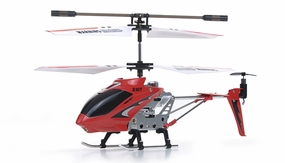 The New Syma 3 Channel S107 Mini Indoor Co-Axial Metal RC Helicopter & Built-in Gyroscope (Red) RC Remote Control Radio