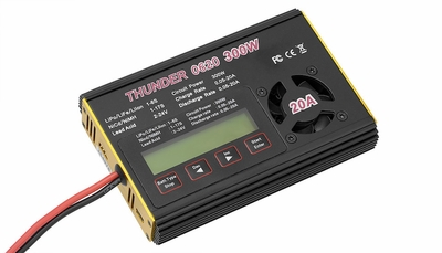 Thunder 620 Charger 300 Watt 20 Amps NiCd/MH(1~17 cells) & LiIo/LiPo/LiFe: 1~6 series Balance Charger/Discharger w/ LCD Display+Auto-Fan