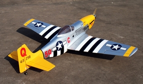 "U.S. Army P-51D Mustang ""Marie"" Nitro-60 - 65.5"" [Model#90A225]"