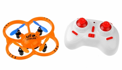 UDI U207 6-Axis UFO Intruder Mini RC Quadcopter Drone Ready to Fly 2.4ghz (Orange) RC Remote Control Radio