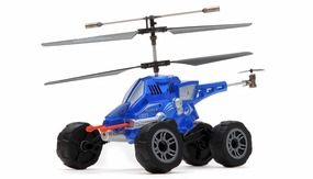 UDI U821 3.5ch Missile Launching Air and Ground Assault Vehicle (Blue) RC Remote Control Radio