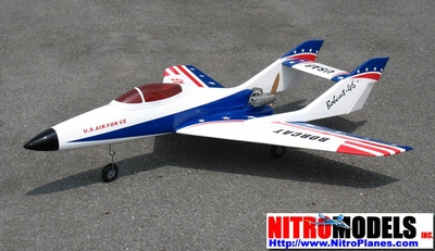 "USAF Bobcat Jet 50 - 51"" Nitro Gas  led RC Airplane +Retracts Ready RC Remote Control Radio"