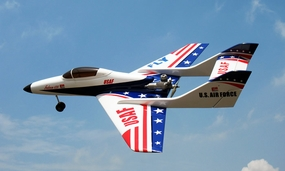 "USAF Super Falcon 120 - 63"" Nitro Powered  Controlled Jet ARF RC Remote Control Radio"