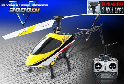 Walkera HM V200D01 Flybarless 2.4Ghz Metal Ready to Fly RTF Helicopter w/ Auto Stabilizing Gyro/ WK2403 Digital Transmitter RC Remote Control Radio