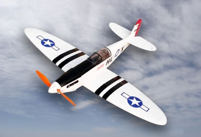White Electric Spitfire 4-Channel ARF Brushless Radio Remote Controlled RC Warbird ARF_ElectricSpitfireWhite