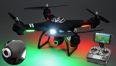 WL Toys Q303B Spaceship Quadcopter Drone Single Axis Gimbal 2MP HD WiFi Camera 4CH 6 Axis Gyro Headless Hover Mode 2.4ghz Ready to Fly