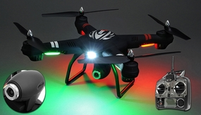 WL Toys Q303C Spaceship Quadcopter Drone Single Axis Gimbal 2MP HD Camera 4CH 6 Axis Gyro Headless Hover Mode 2.4ghz Ready to Fly 16GB SD Card