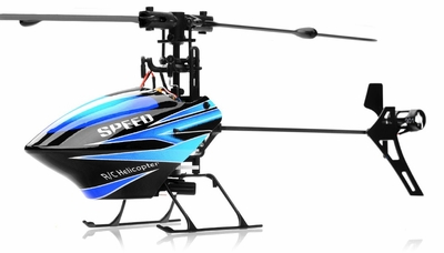 WL Toys V922 RC CCPM 6 Channel Flybarless Helicopter Ready to Fly (Blue) RC Remote Control Radio