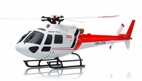 WL Toys V931 AS350 6 Channel Collective Pitch 3D Tri Blade Helicopter 2.4ghz Ready to Fly RC Remote Control Radio