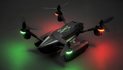 WLtoys Q353 Aeroamphibious Air Land Sea Mode Headless Mode RC Quadcopter RTF 2.4GHz (Black)