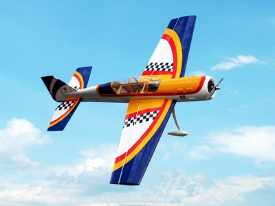 "Yak 52 3D 50 - 56"" Version 2 Nitro Gas  led Aircraft Almost-Ready-to-Fly ARF RC Remote Control Radio"